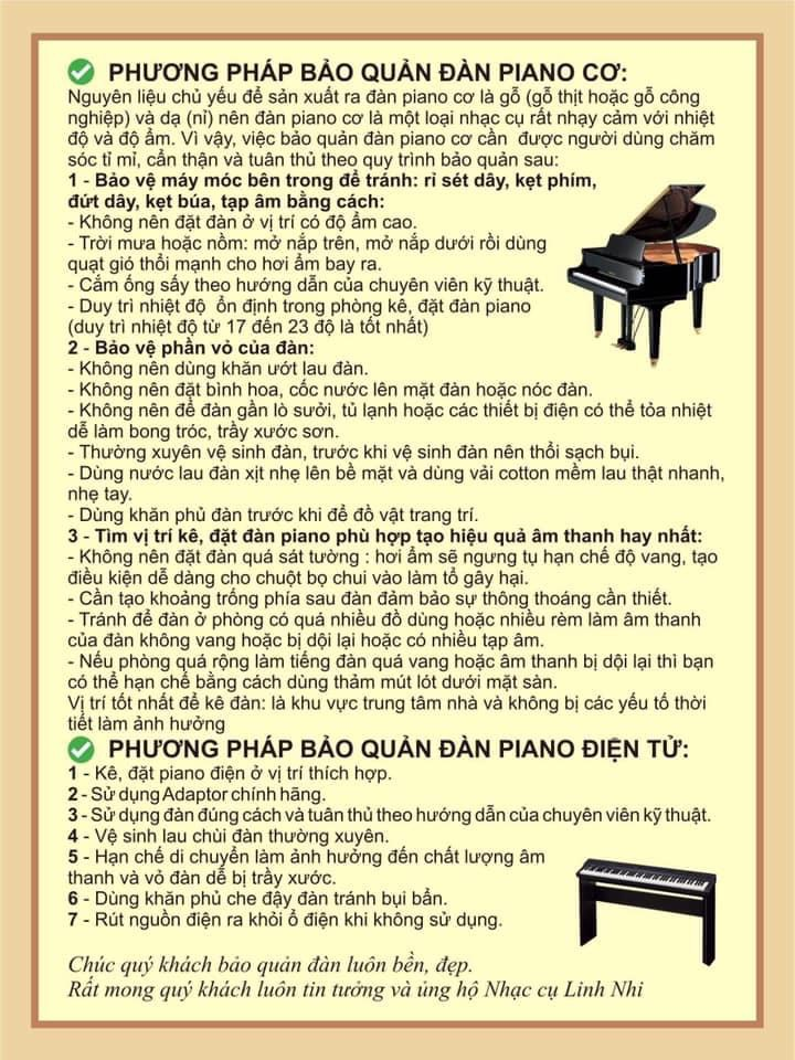 Cách bảo quản đàn piano cơ