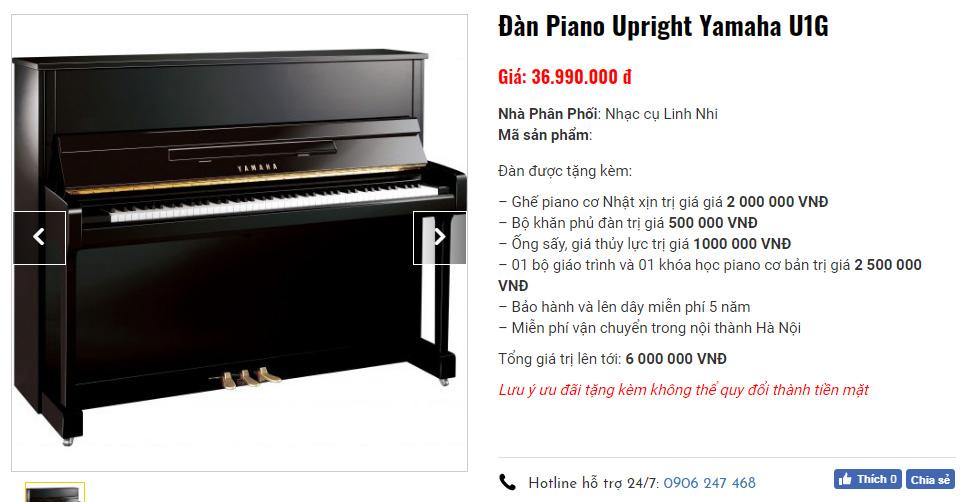 Ưu đãi lớn khi mua piano cơ tại Nhạc cụ Linh Nhi