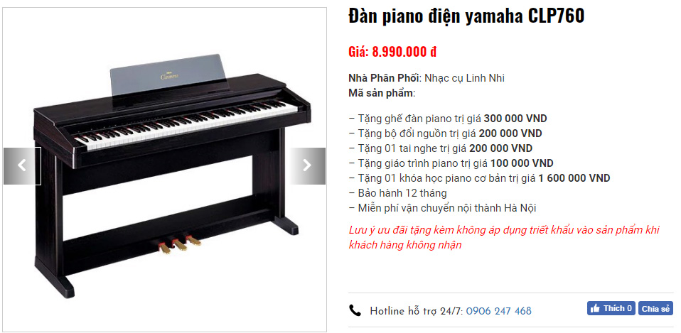 Ưu đãi lớn khi mua piano điện tại Nhạc cụ Linh Nhi
